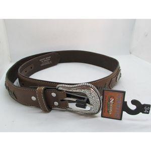 Nocona Belt Co. Men's Top Hand Steer Concho Belt